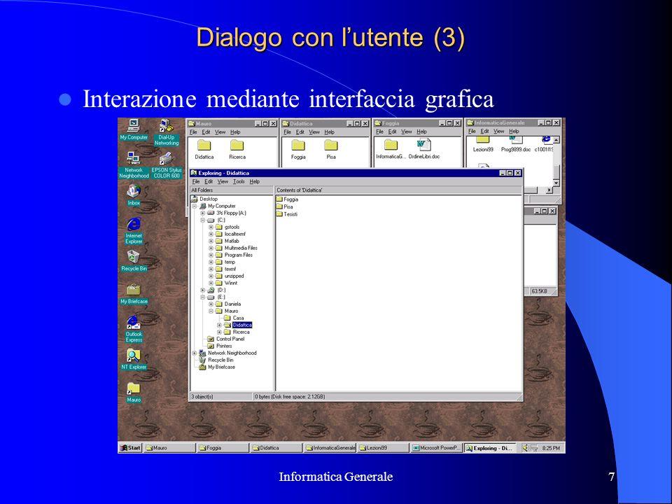 Dialogo con l'utente (3)