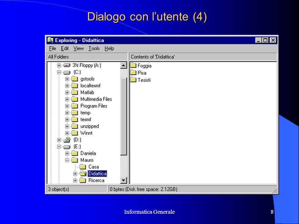 Dialogo con l'utente (4)
