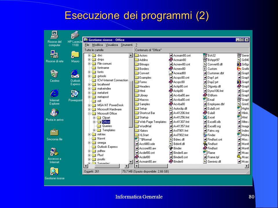 Esecuzione dei programmi (2)