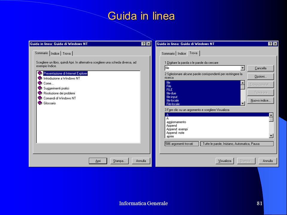 Guida in linea Informatica Generale