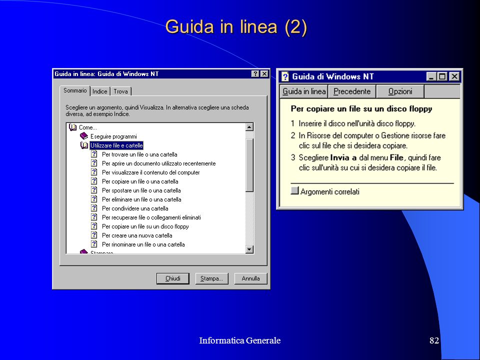 Guida in linea (2) Informatica Generale