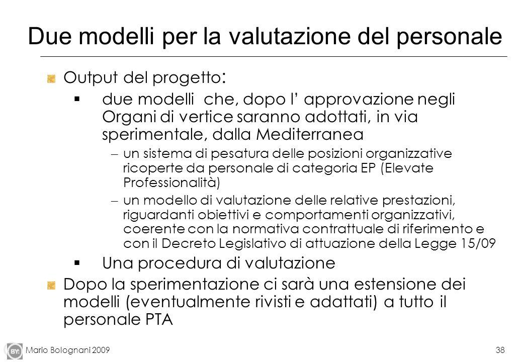 Due modelli per la valutazione del personale