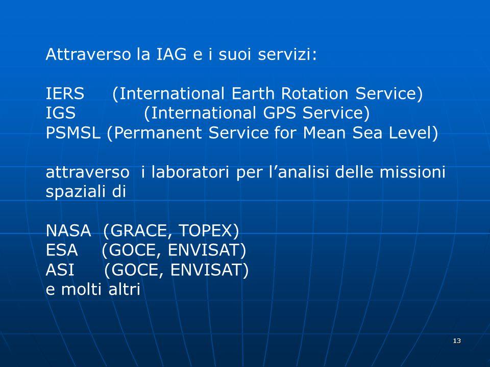 Attraverso la IAG e i suoi servizi: