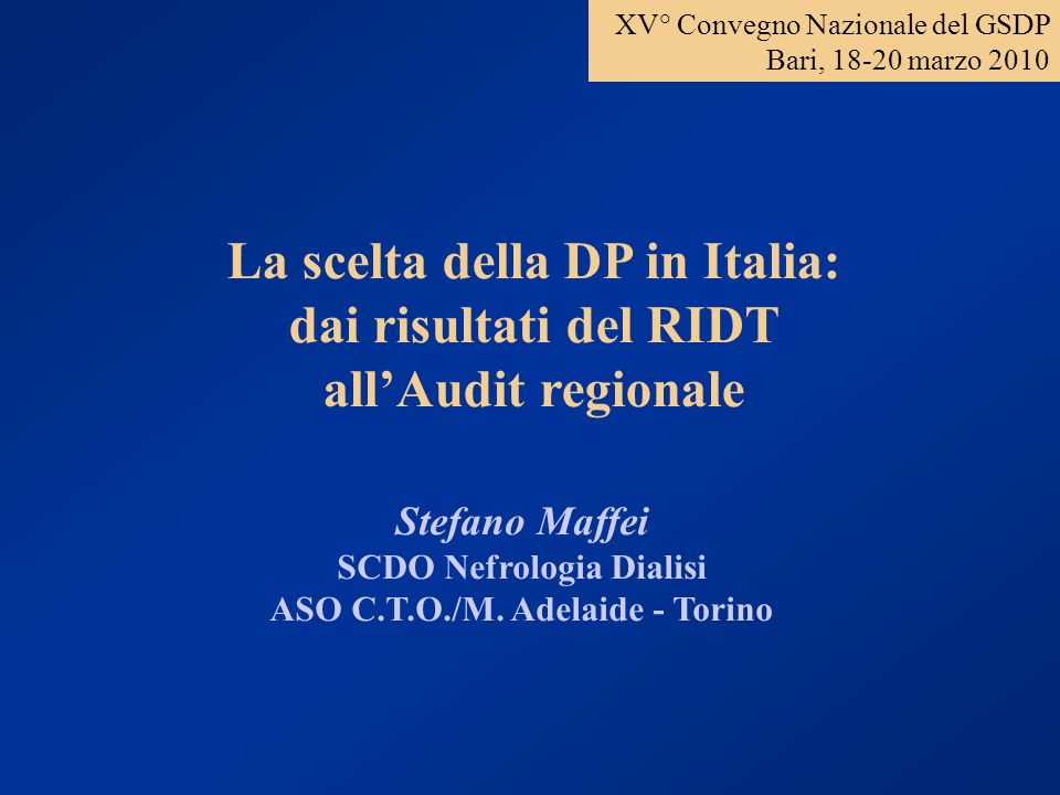 SCDO Nefrologia Dialisi ASO C.T.O./M. Adelaide - Torino