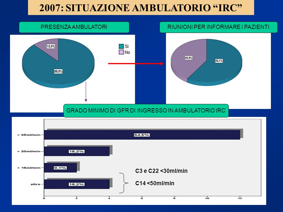 2007: SITUAZIONE AMBULATORIO IRC