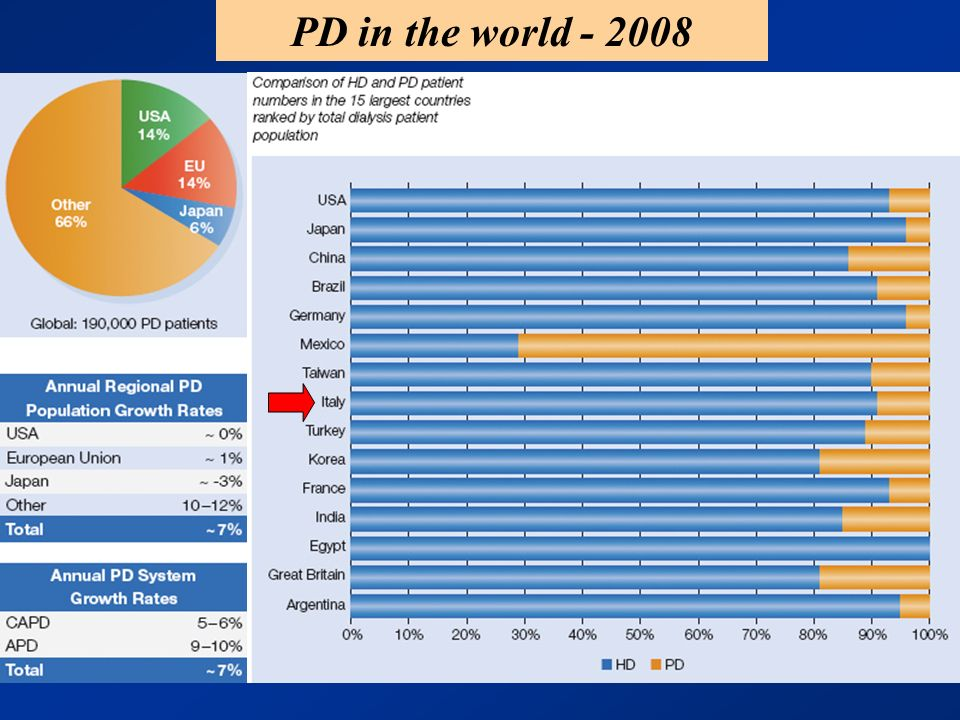 PD in the world - 2008