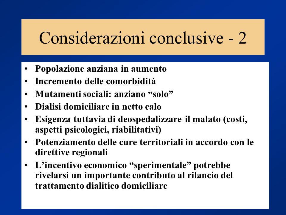 Considerazioni conclusive - 2