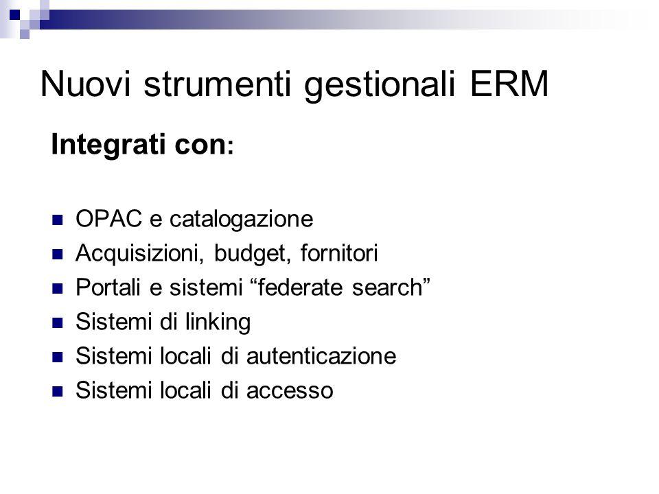 Nuovi strumenti gestionali ERM
