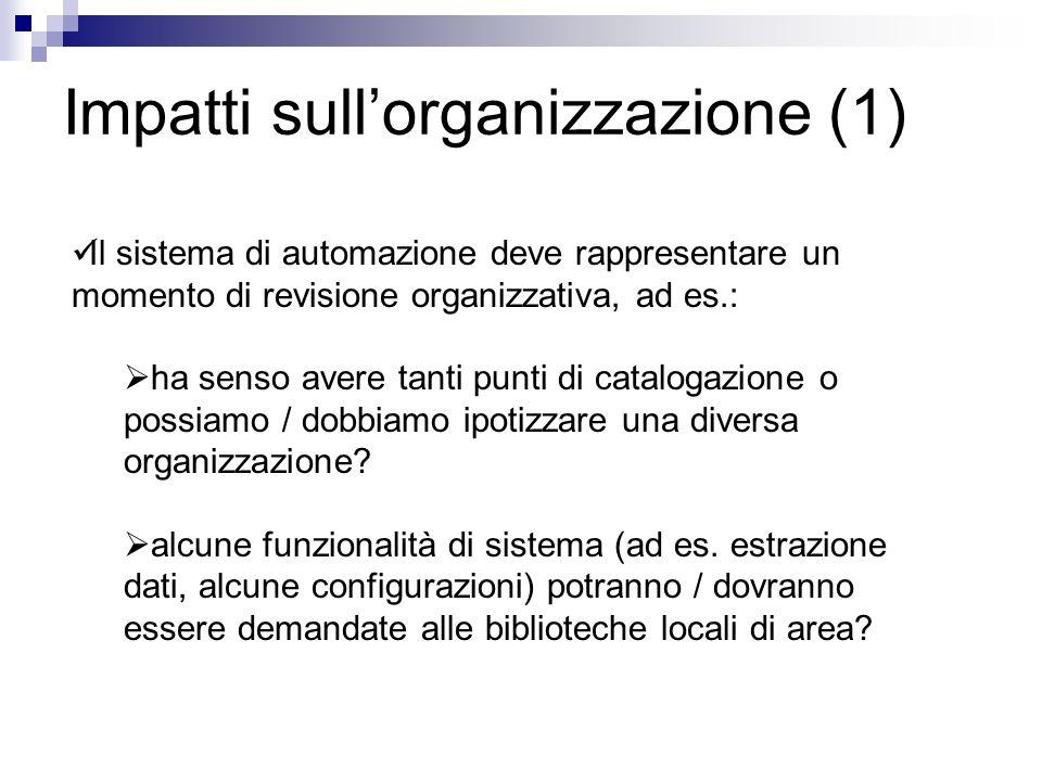Impatti sull'organizzazione (1)