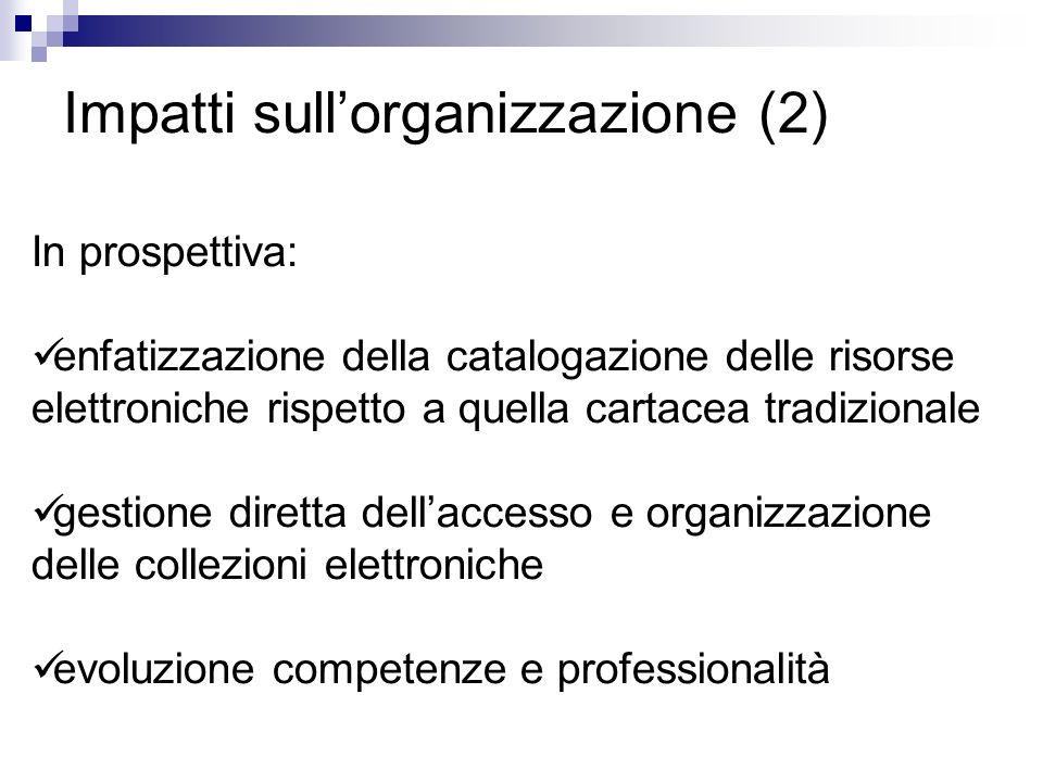 Impatti sull'organizzazione (2)