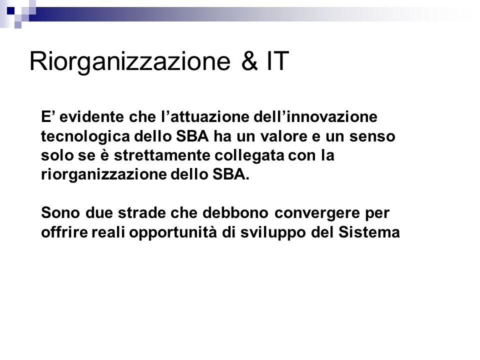 Riorganizzazione & IT