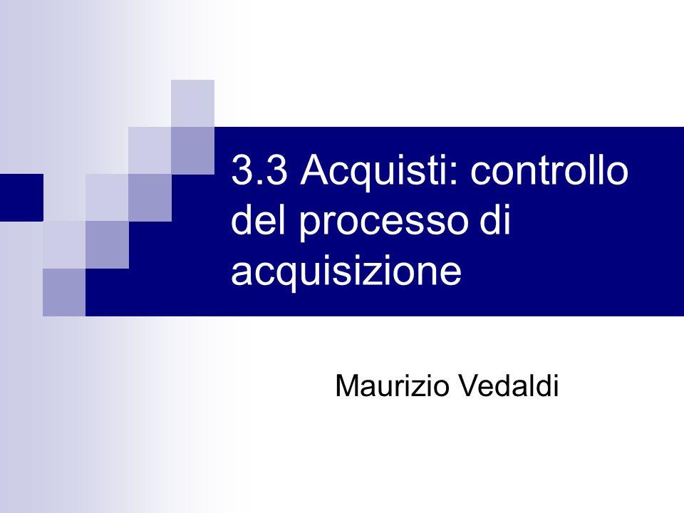 3.3 Acquisti: controllo del processo di acquisizione