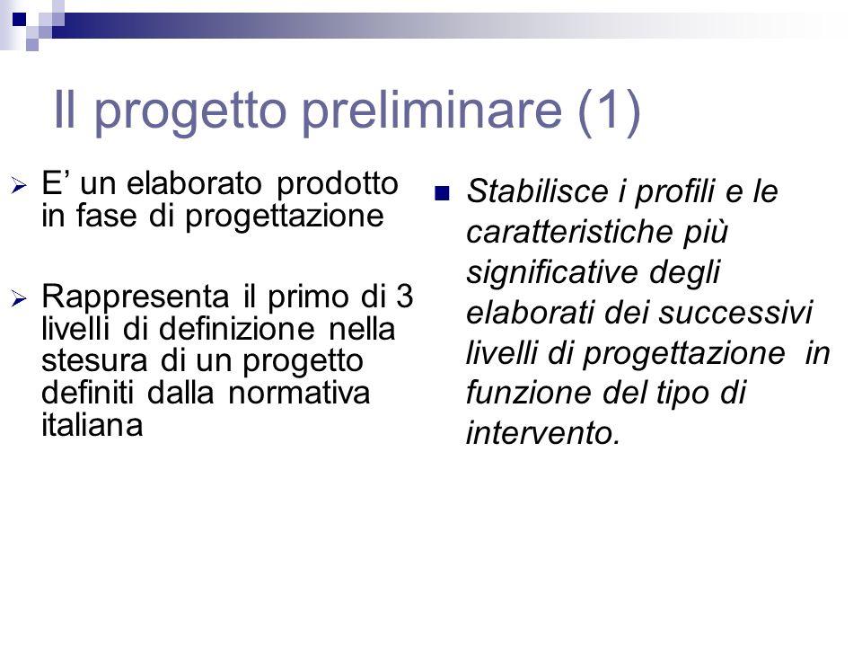 Il progetto preliminare (1)