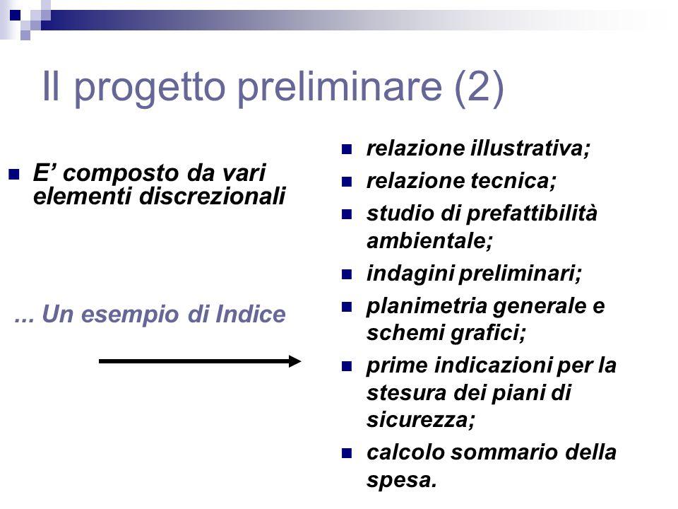 Il progetto preliminare (2)