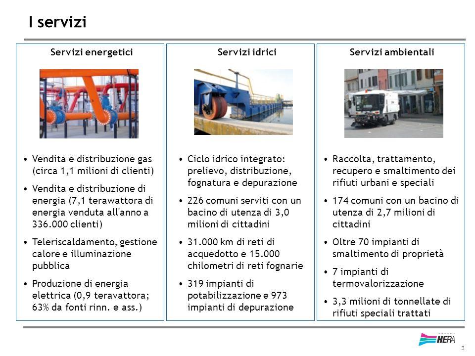 I servizi Servizi energetici