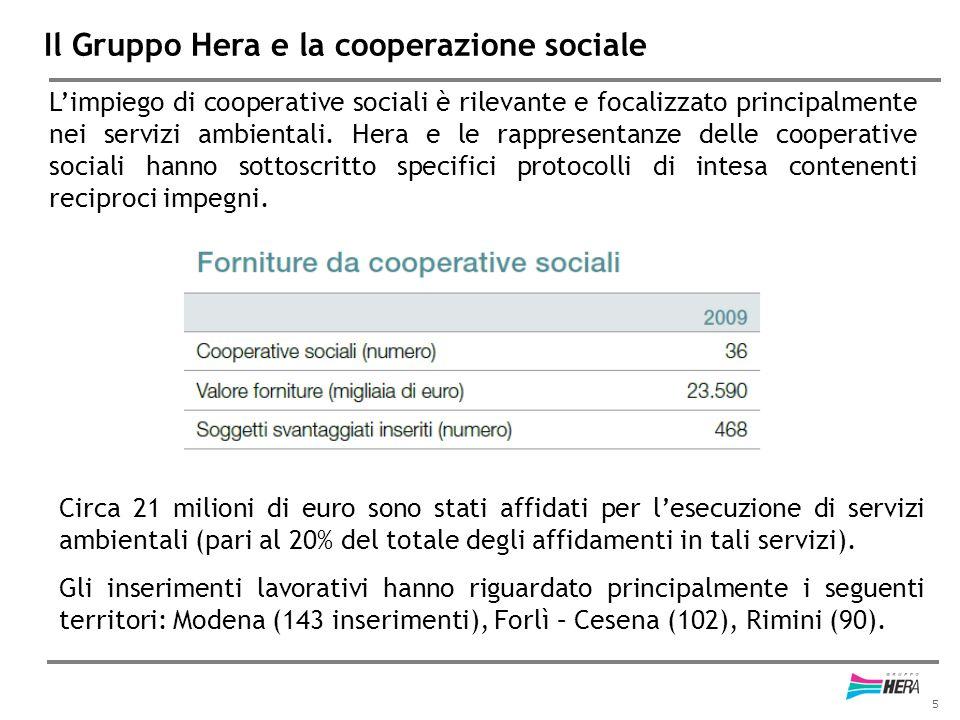 Il Gruppo Hera e la cooperazione sociale