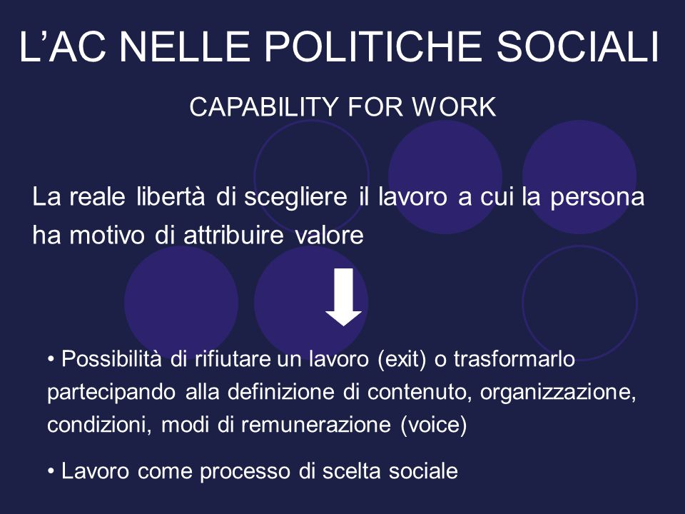L'AC NELLE POLITICHE SOCIALI