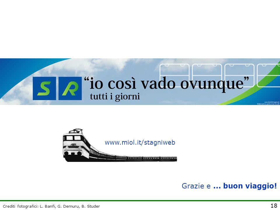 Grazie e ... buon viaggio! www.miol.it/stagniweb