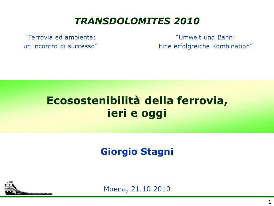 Ecosostenibilità della ferrovia, ieri e oggi
