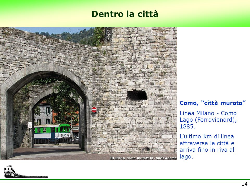 Dentro la città Como, città murata