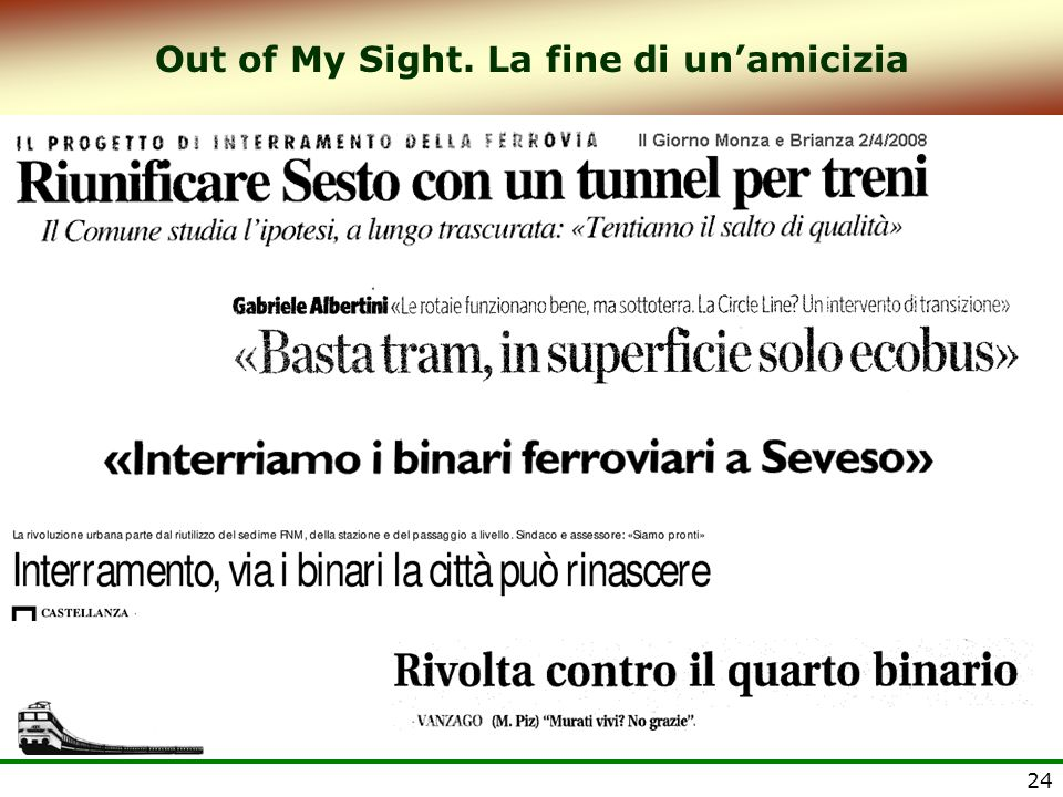 Out of My Sight. La fine di un'amicizia