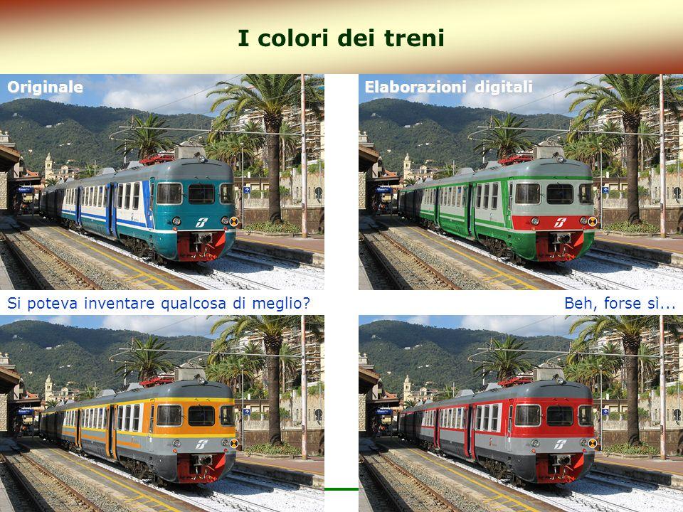 I colori dei treni Originale Elaborazioni digitali