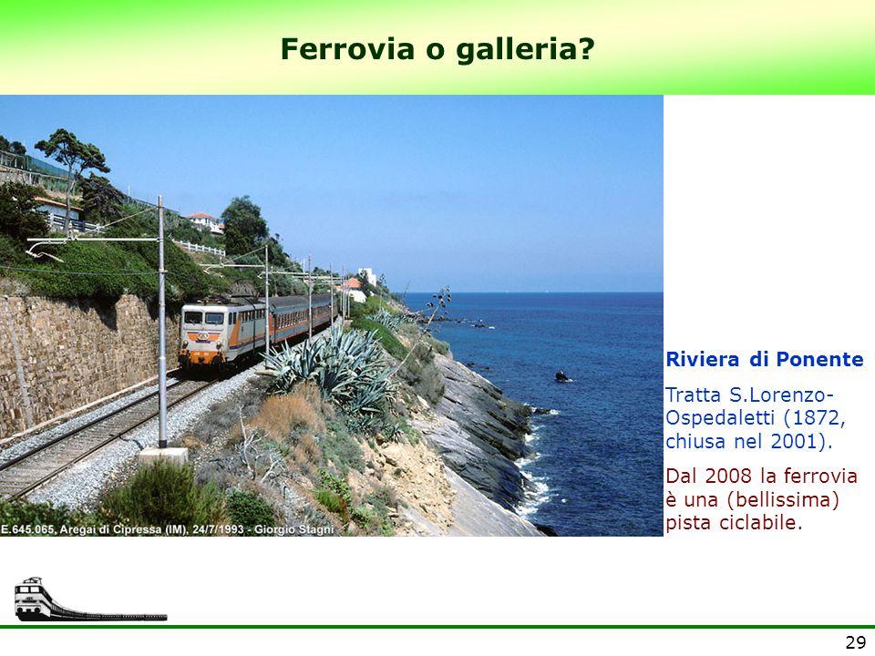 Ferrovia o galleria Riviera di Ponente
