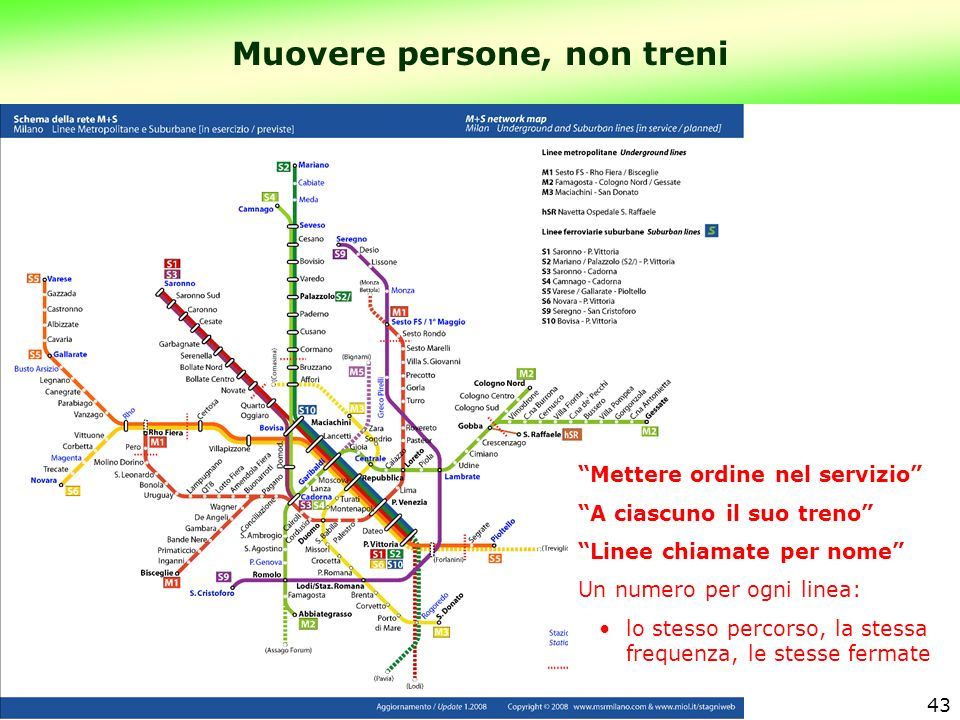 Muovere persone, non treni