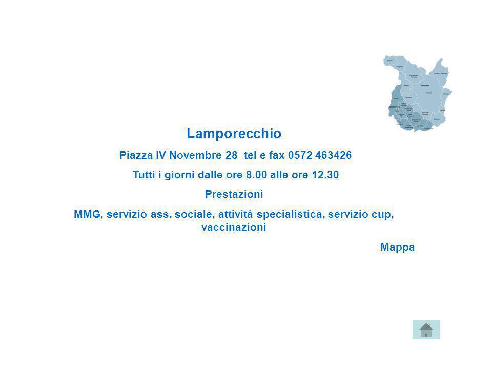 Lamporecchio Piazza IV Novembre 28 tel e fax 0572 463426