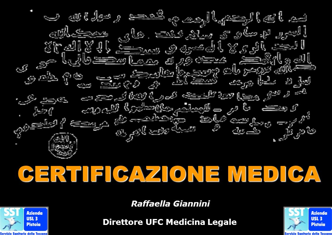 CERTIFICAZIONE MEDICA