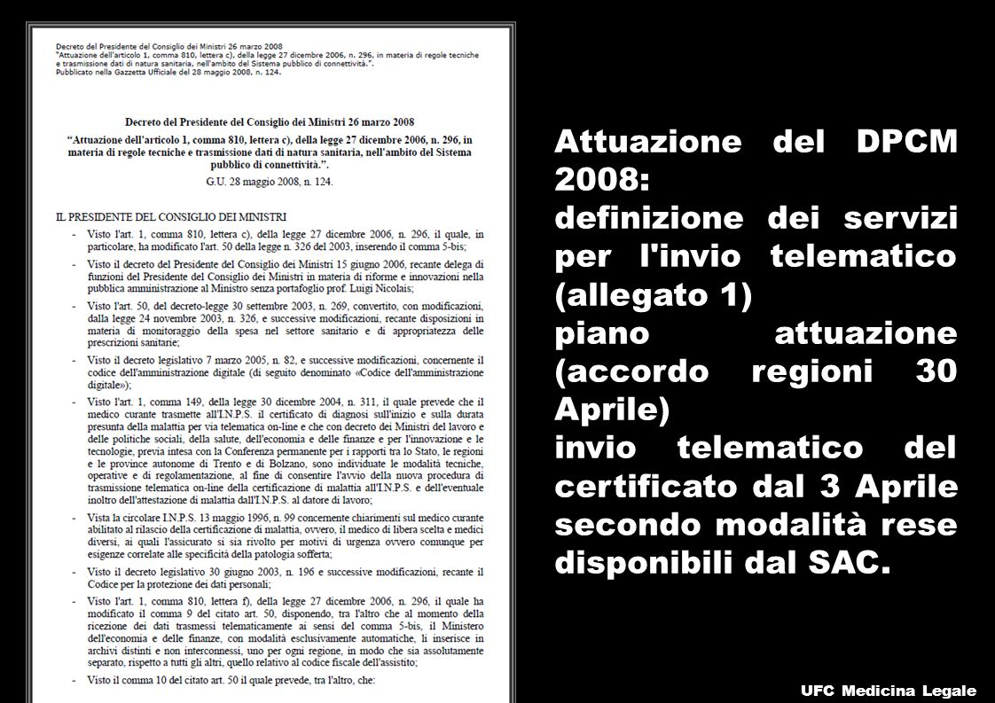 definizione dei servizi per l invio telematico (allegato 1)