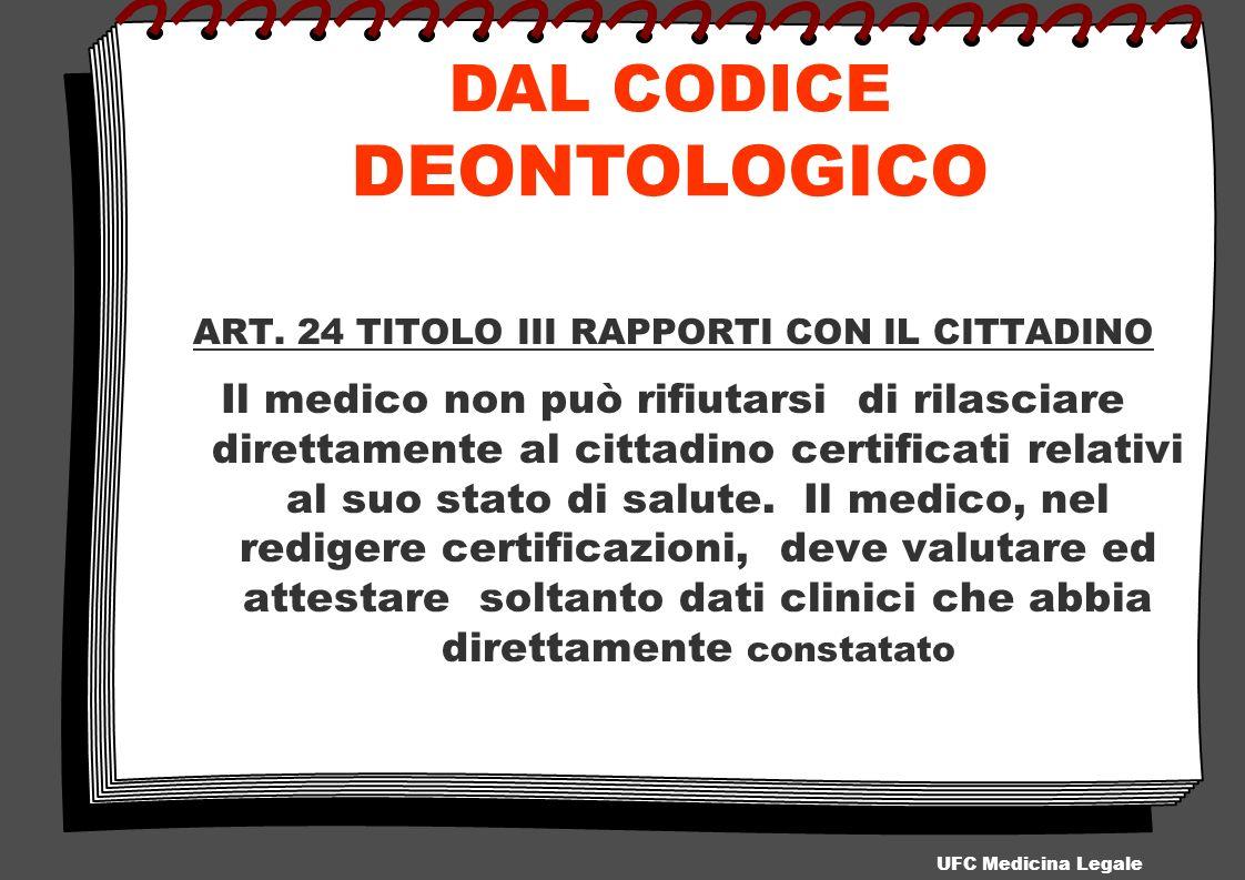 ART. 24 TITOLO III RAPPORTI CON IL CITTADINO