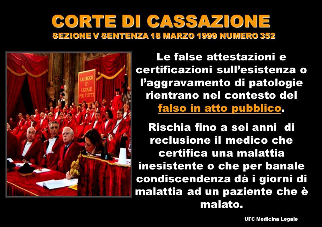CORTE DI CASSAZIONE SEZIONE V SENTENZA 18 MARZO 1999 NUMERO 352
