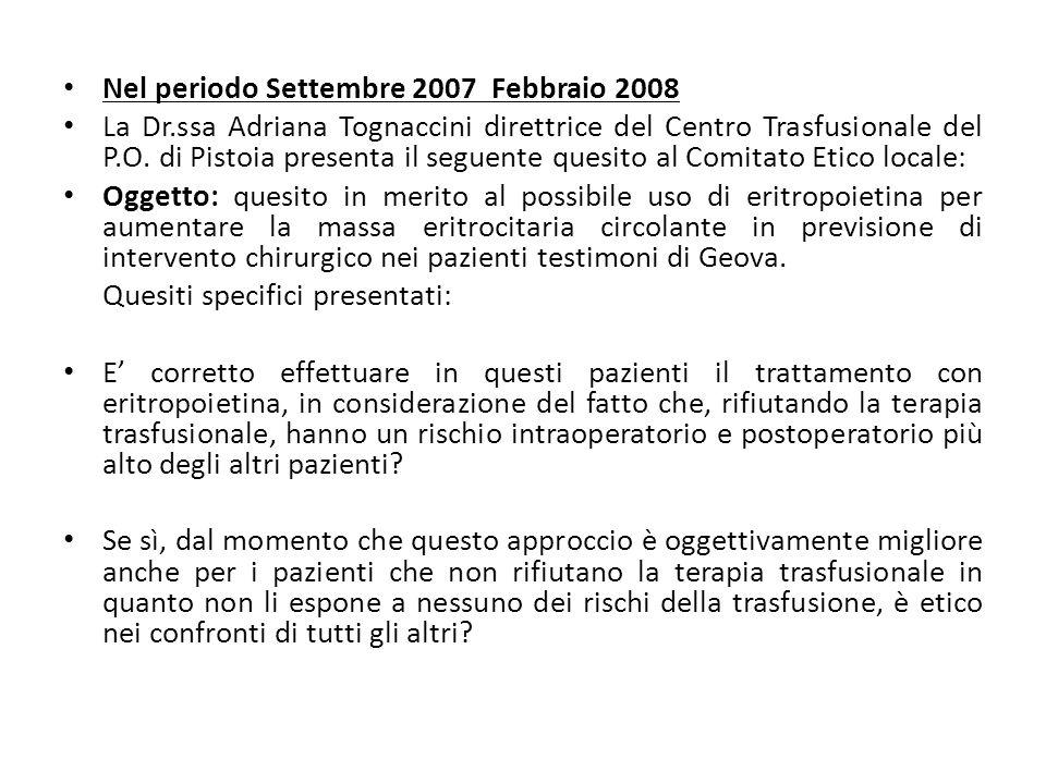 Nel periodo Settembre 2007 Febbraio 2008