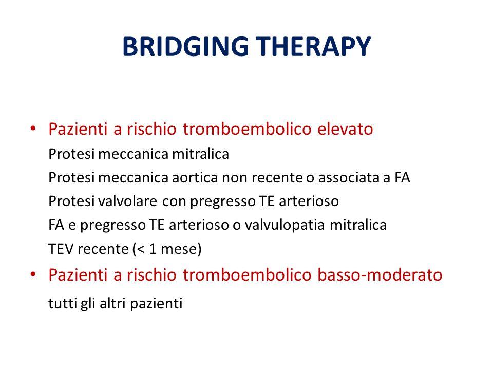 BRIDGING THERAPY Pazienti a rischio tromboembolico elevato
