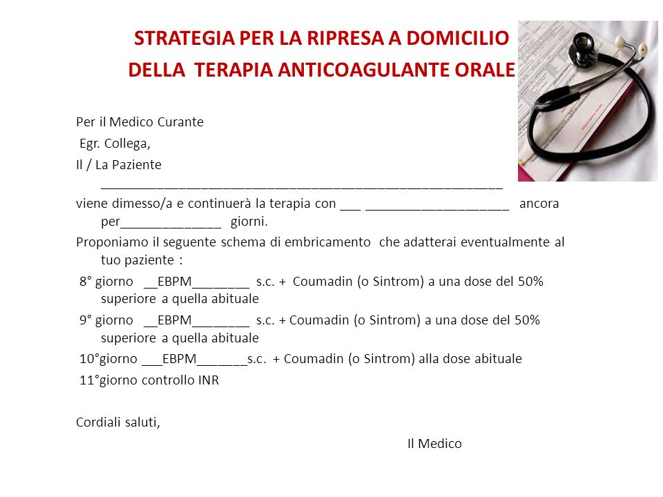STRATEGIA PER LA RIPRESA A DOMICILIO