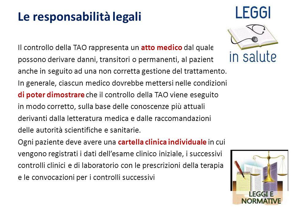 Le responsabilità legali