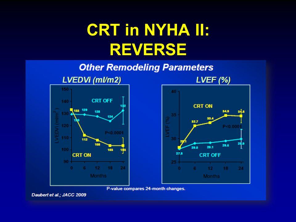 CRT in NYHA II: REVERSE