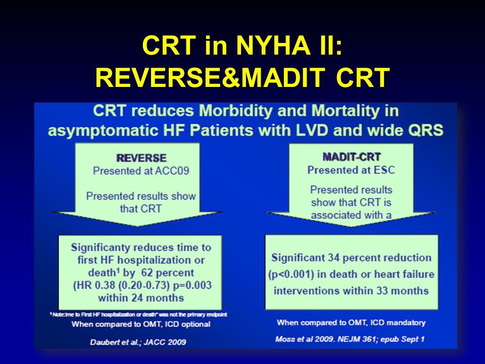 CRT in NYHA II: REVERSE&MADIT CRT