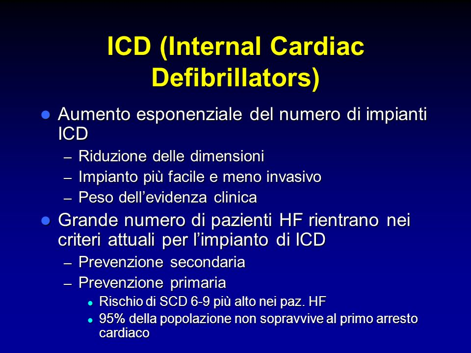 ICD (Internal Cardiac Defibrillators)