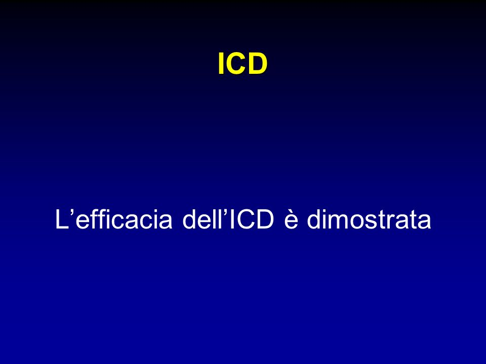L'efficacia dell'ICD è dimostrata