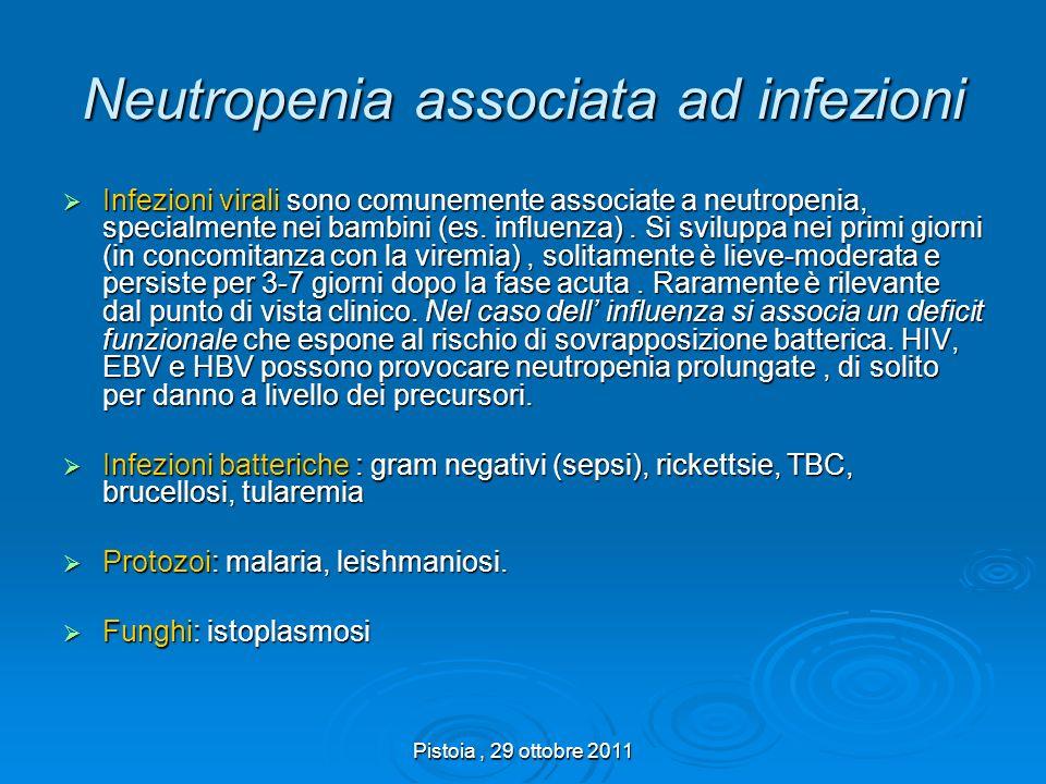 Neutropenia associata ad infezioni