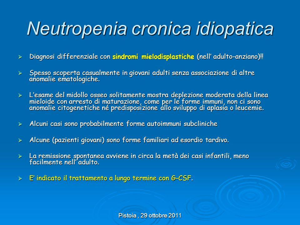 Neutropenia cronica idiopatica