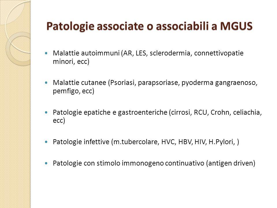 Patologie associate o associabili a MGUS