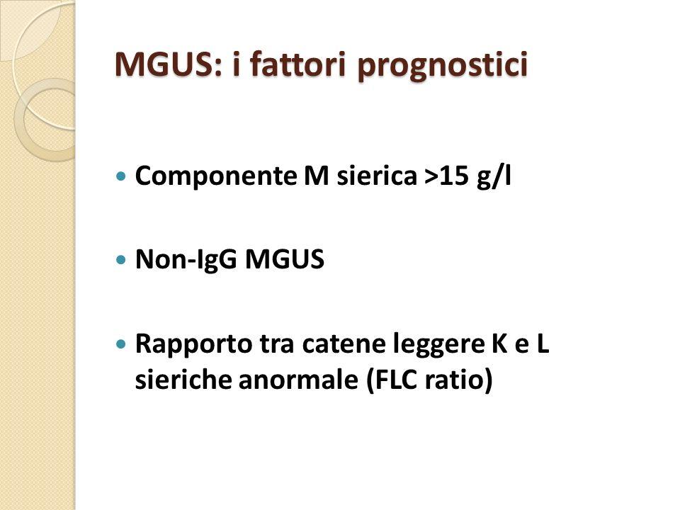 MGUS: i fattori prognostici