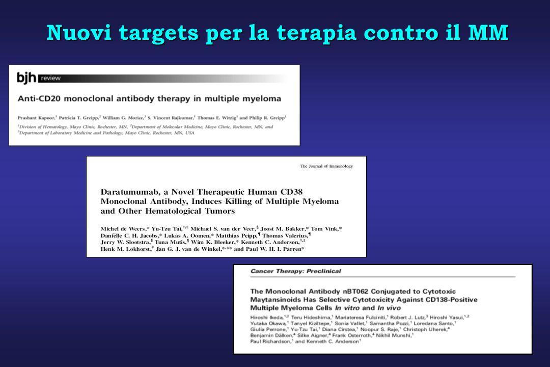 Nuovi targets per la terapia contro il MM