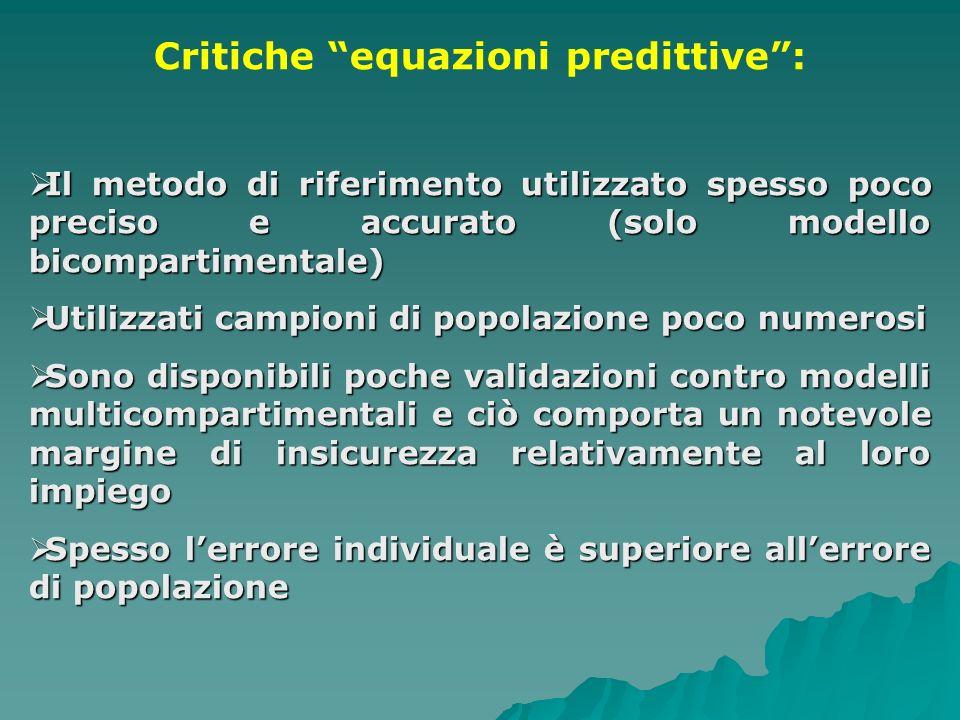 Critiche equazioni predittive :