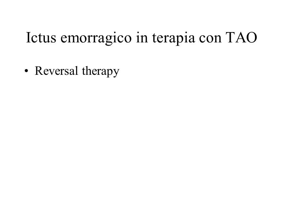 Ictus emorragico in terapia con TAO