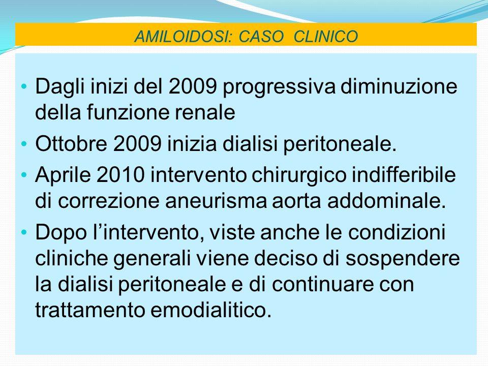 AMILOIDOSI: CASO CLINICO
