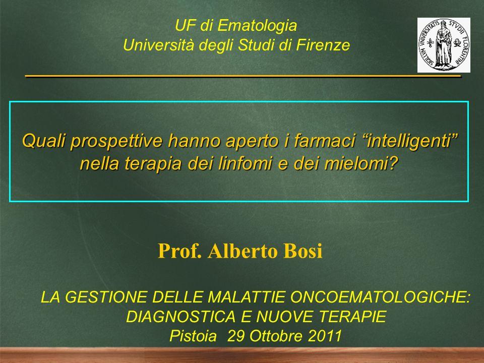 UF di Ematologia Università degli Studi di Firenze. Quali prospettive hanno aperto i farmaci intelligenti nella terapia dei linfomi e dei mielomi